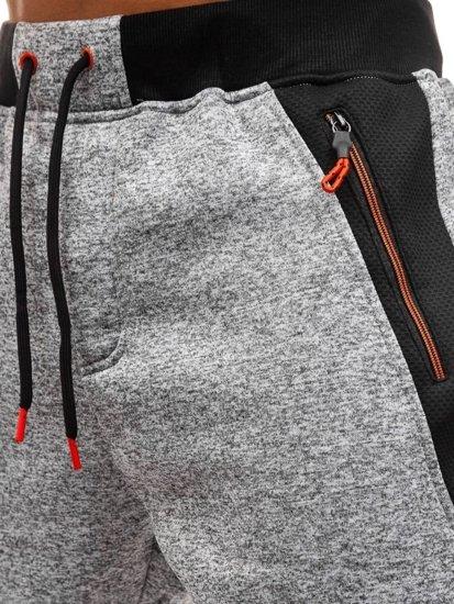 Spodnie męskie dresowe szare Denley TC881
