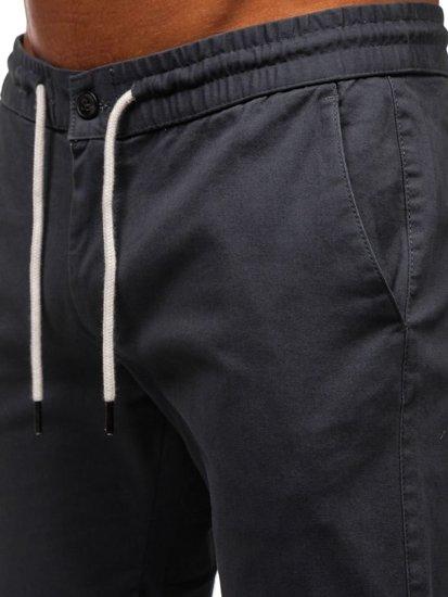 Spodnie męskie joggery grafitowy Denley 1121