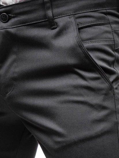 Spodnie wizytowe męskie grafitowe Denley 7623