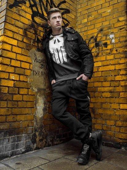 Stylizacja nr 111 - kurtka zimowa, bluza z nadrukiem, spodnie baggy, buty