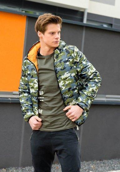 Stylizacja nr 174 - kurtka przejściowa, T-shirt z nadrukiem, spodnie dresowe joggery