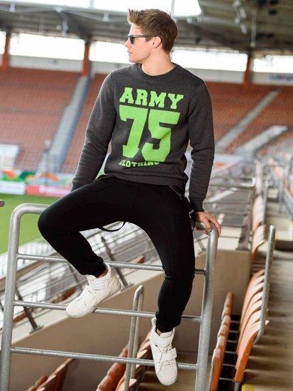Stylizacja nr 203 - bluza z nadrukiem, spodnie dresowe baggy, buty sneakersy