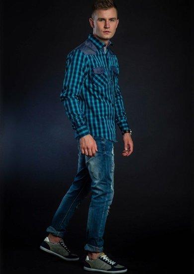 Stylizacja nr 40 - koszula w kratę, spodnie jeansowe