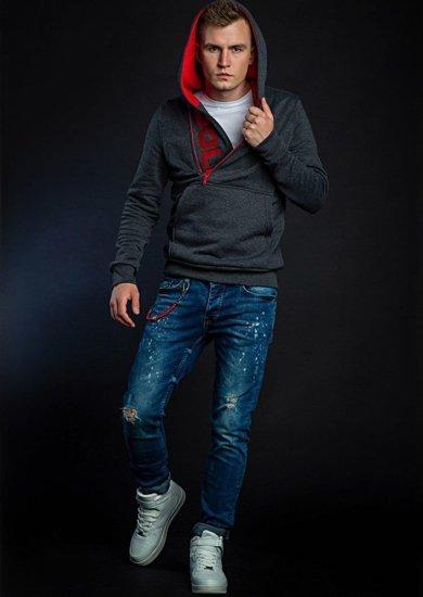 Stylizacja nr 42 - bluza z kapturem, T-shirt, spodnie jeansowe