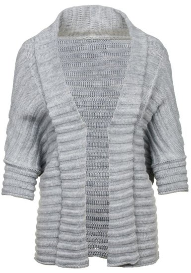 Sweter kardigan damski szary Denley 0972