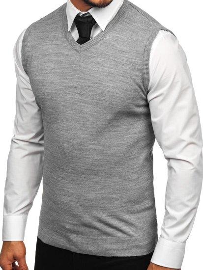 Sweter męski bez rękawów szary Denley 2500