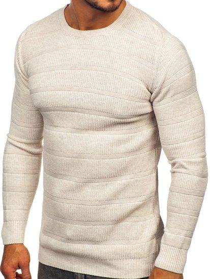 Sweter męski beżowy Denley 4357