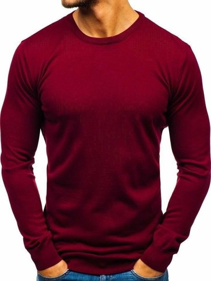 Sweter męski bordowy Denley 2300