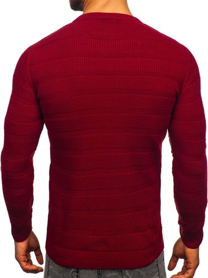 Sweter męski bordowy Denley 4357