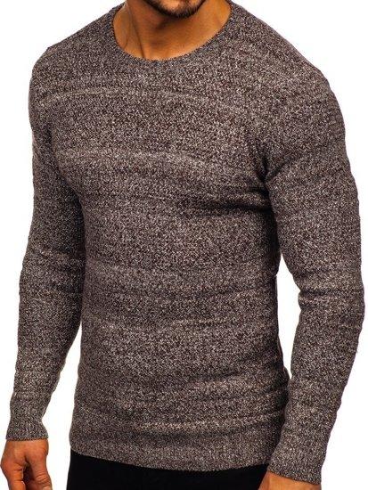 Sweter męski brązowy Denley H1926