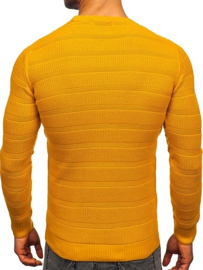 Sweter męski camelowy Denley 4357