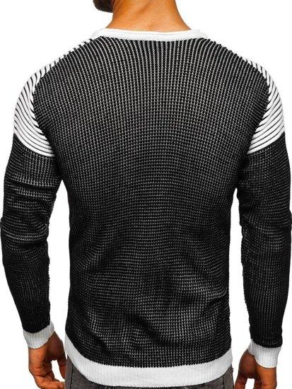 Sweter męski czarny Denley 0004
