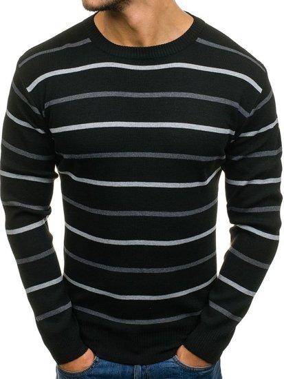 Sweter męski czarny Denley H1619