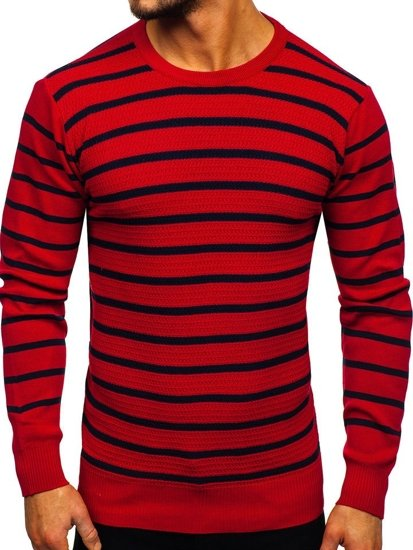 Sweter męski czerwony Denley H6052