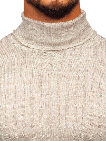 Sweter męski golf beżowy Denley 2002