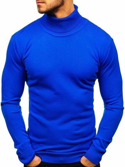 Sweter męski golf chabrowy Denley 2400