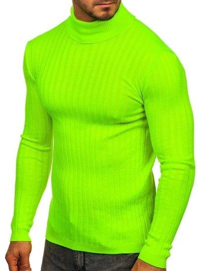 Sweter męski golf zielony-neon Denley 2002