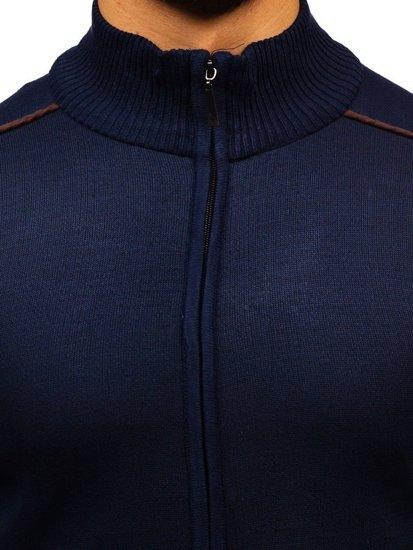 Sweter męski rozpinany atramentowy Denley BM6077