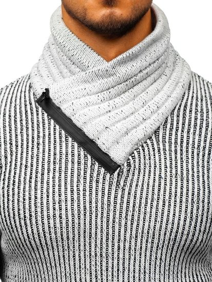 Sweter męski szaro-czarny Denley 20002