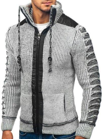 Sweter męski szaro-czarny Denley 20010