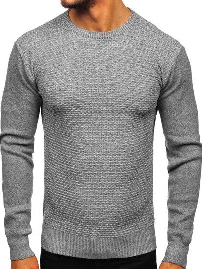 Sweter męski szary Denley 8512