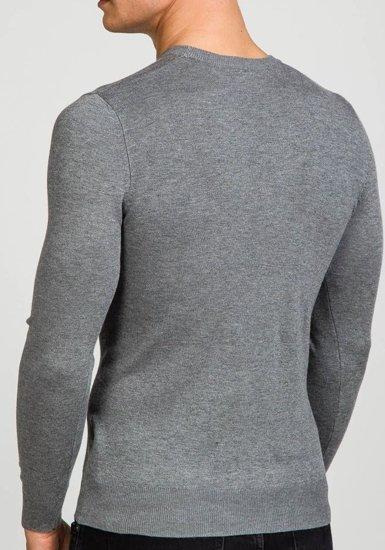Sweter męski szary Denley 9001