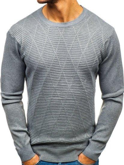 Sweter męski szary Denley H1825-A