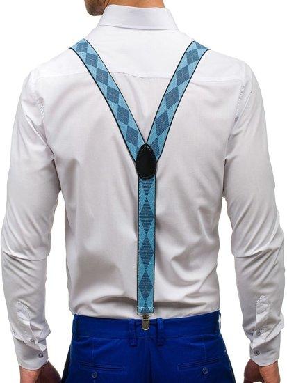 Szelki męskie błękitne Denley SZ02