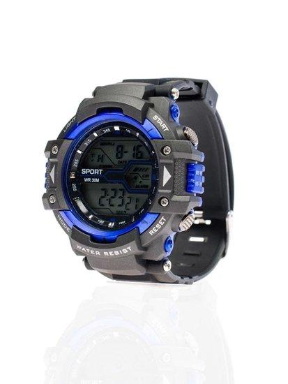 Zegarek męski na rękę czarno-chabrowy Denley 8338