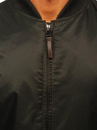 Zielona kurtka męska przejściowa parka Denley JK363