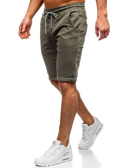 Zielone krótkie spodenki męskie szorty Denley KG3723