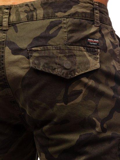 Zielone szorty krótkie spodenki męskie bojówki moro Denley 6137
