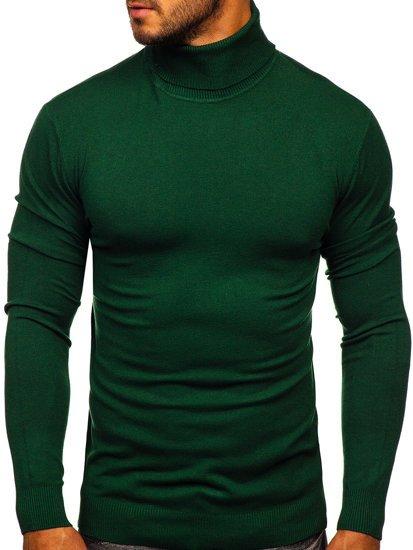 Zielony golf sweter męski bez nadruku Denley YY02