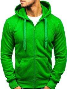 Bluza męska z kapturem zielona Denley AK50A