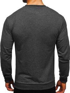 Bluza męska bez kaptura antracytowa Denley 0385