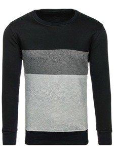 Bluza męska bez kaptura czarna Denley J36
