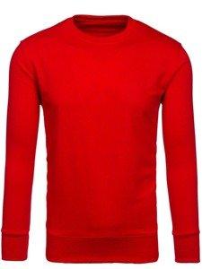 Bluza męska bez kaptura czerwona Denley 7039
