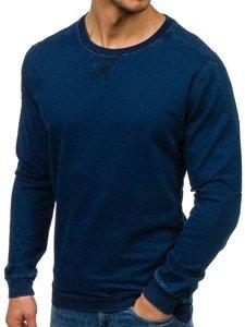 Bluza męska bez kaptura granatowa Denley 2701