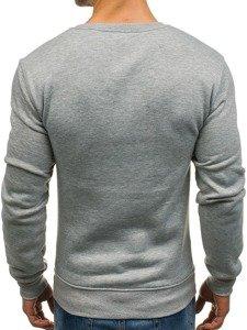 Bluza męska bez kaptura szara Denley J36