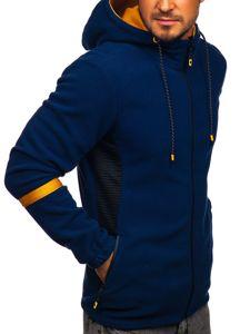 Bluza męska polar z kapturem granatowa Denley YL007