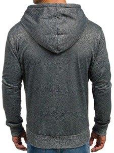 Bluza męska z kapturem antracytowa Denley 2195