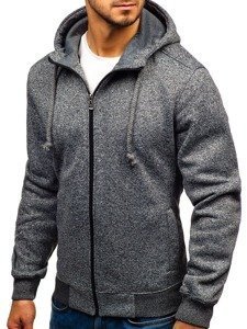 Bluza męska z kapturem antracytowa Denley TC22-1