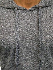 Bluza męska z kapturem ciemnoszara Denley 7035