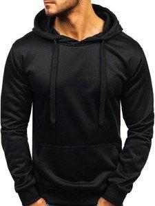 Bluza męska z kapturem czarna Denley 22002