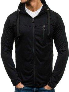 Bluza męska z kapturem czarna Denley 7089