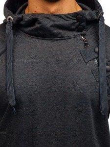 Bluza męska z kapturem grafitowa Denley 7087