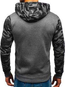 Bluza męska z kapturem grafitowa Denley XHP1005