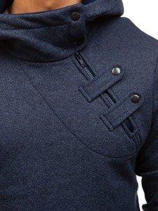 Bluza męska z kapturem granatowa Bolf 06S