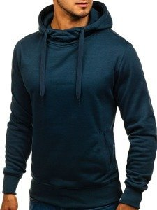 Bluza męska z kapturem granatowa Denley 2072