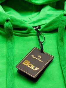 Bluza męska z kapturem jasnozielona Bolf 5361